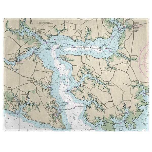 Pungo River, NC 18 Placemat (Set of 4) by East Urban Home