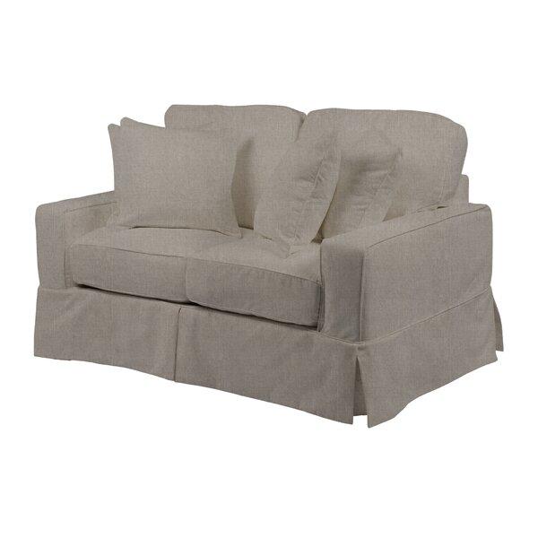 Columbus Box Cushion Loveseat Slipcover