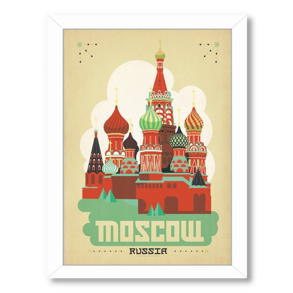 Moscow Framed Vintage Advertisement by East Urban Home