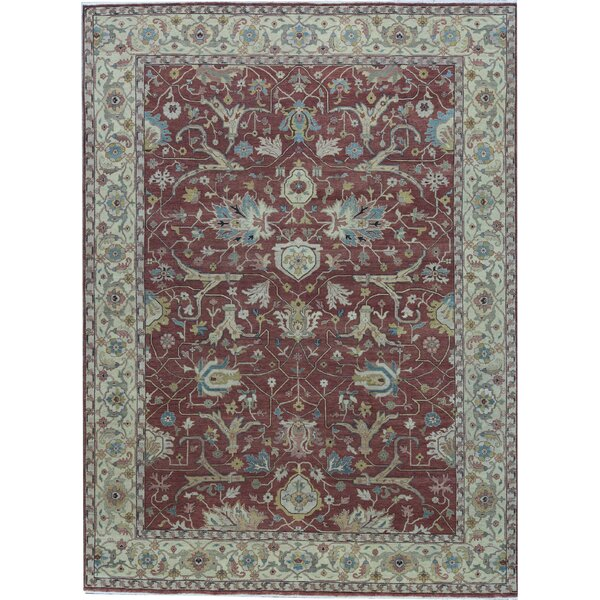Oriental Hand-Knotted Wool Rust/Ivory Area Rug