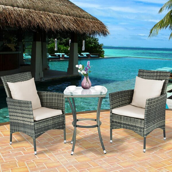 Grena 3 Rattan with Cushions by Bay Isle Home