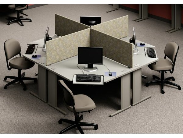 WorkZone Stand Alone Corner Curvilinear Worksurface by KI Furniture