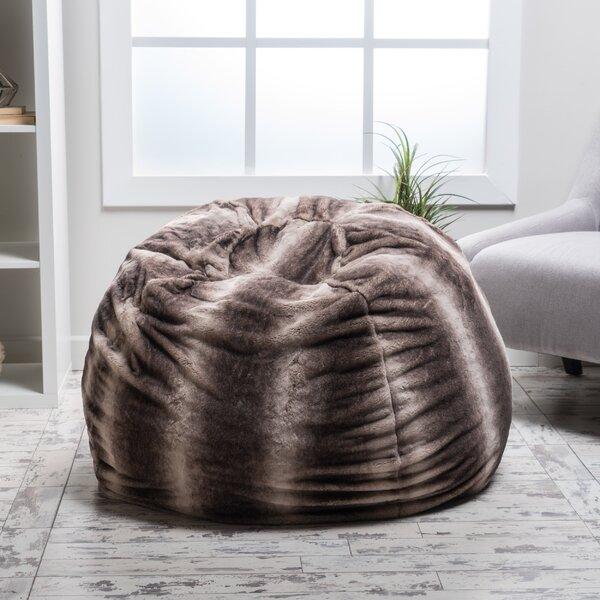 Standard Faux Fur Classic Bean Bag By Loon Peak