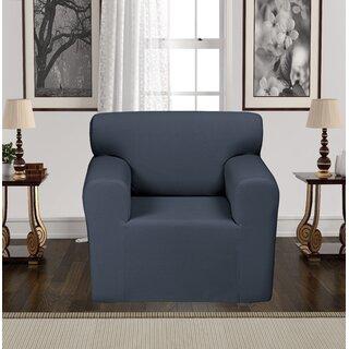 Anti-Slip Spandex Elastic Stretch Box T-Cushion Armchair Slipcover by Rebrilliant SKU:AE592420 Details