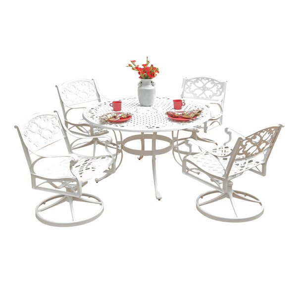 Van Glider 5 Piece Dining Set with Swivel Chairs by Astoria Grand