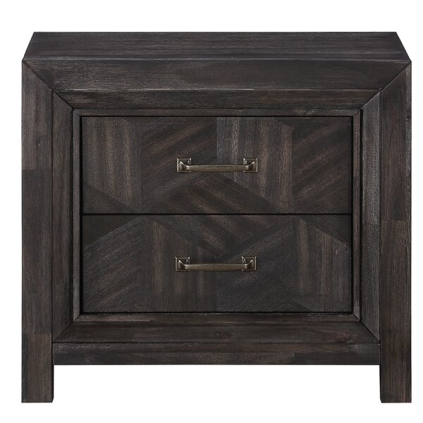 Divij 2 Drawer Nightstand by Wrought Studio