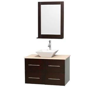 Best Reviews Centra 36 Single Espresso Bathroom Vanity Set with Mirror By Wyndham Collection