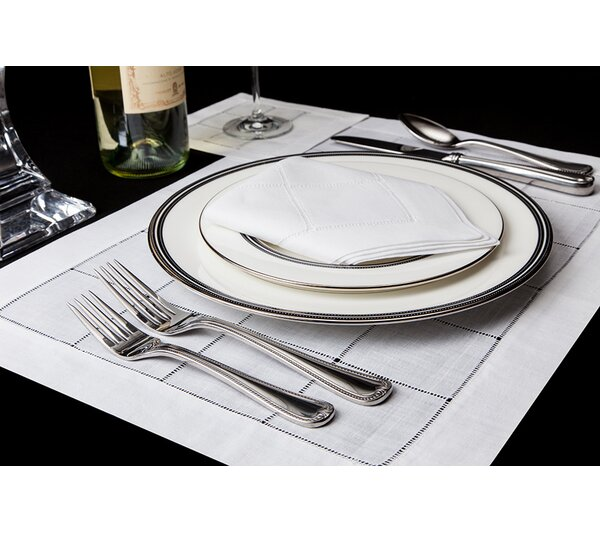 Block Hemstitch Placemats (Set of 4) by Boutross Fine Linens