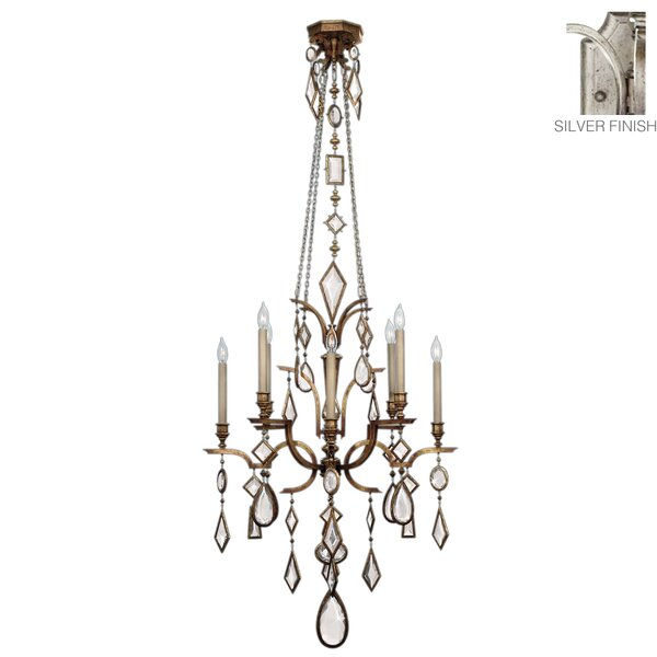 Encased Gems 8 - Light Candle Style Classic Chandelier By Fine Art Lamps
