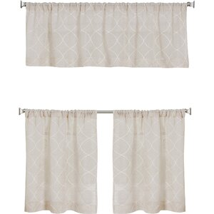 VillaGrove Rod Pocket Window Curtain Valance