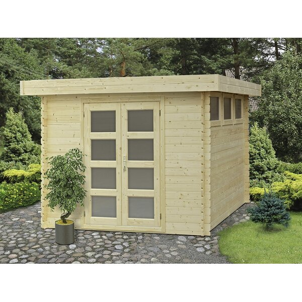 Moderna 9 ft. 9 in. W x 9 ft. 9 in. D Wooden Storage Shed by SolidBuild