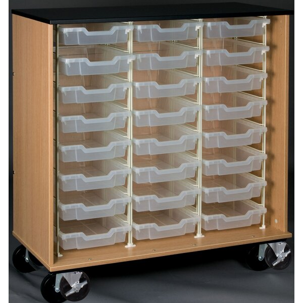 Science 24 Compartment Cubby with Casters by Steve