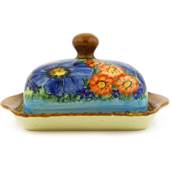 Field of Butterflies Butter Dish by Polmedia