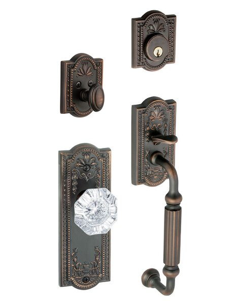 Parthenon Keyed Door Knob by Grandeur
