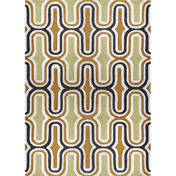 Hayslett Hand-Tufted Yellow Indoor Area Rug by Brayden Studio