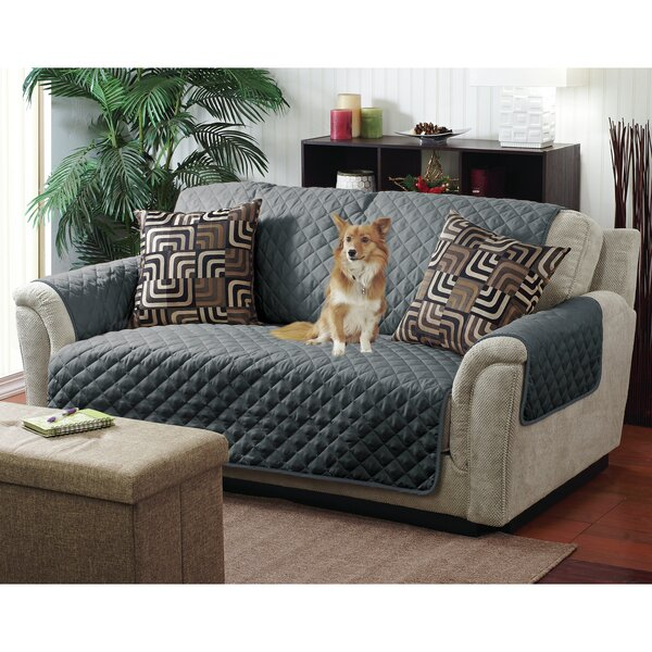 Reversible Quilted T-Cushion Armchair Slipcover By Winston Porter
