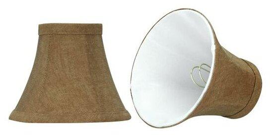 6 Linen Bell Candelabra Shade (Set of 2) by Aspen Creative Corporation