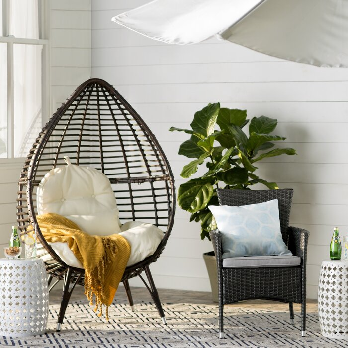 Tremendous Teardrop Patio Chair With Cushions Ocoug Best Dining Table And Chair Ideas Images Ocougorg