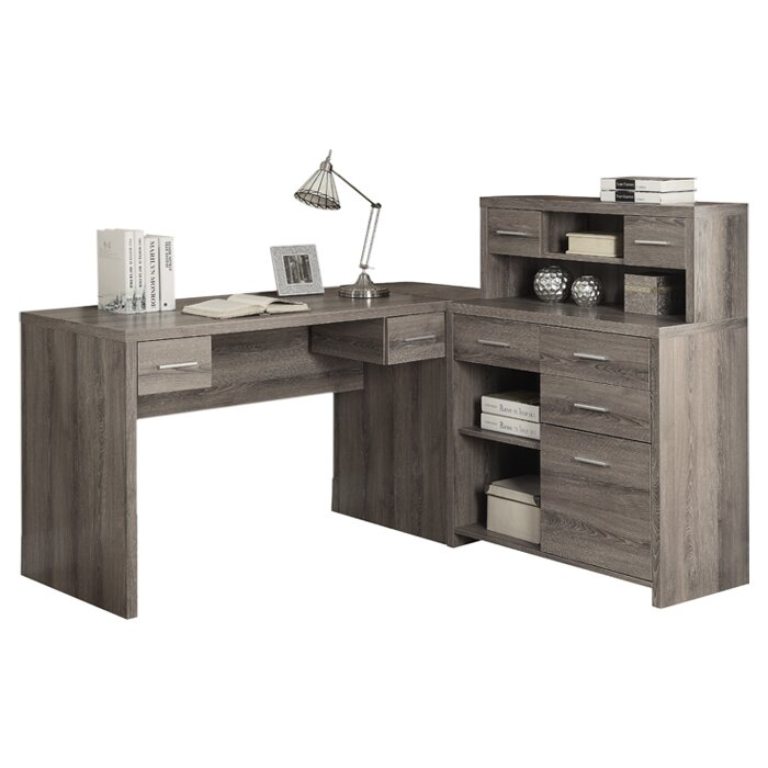 Ord L Shaped Computer Desk With Hutch