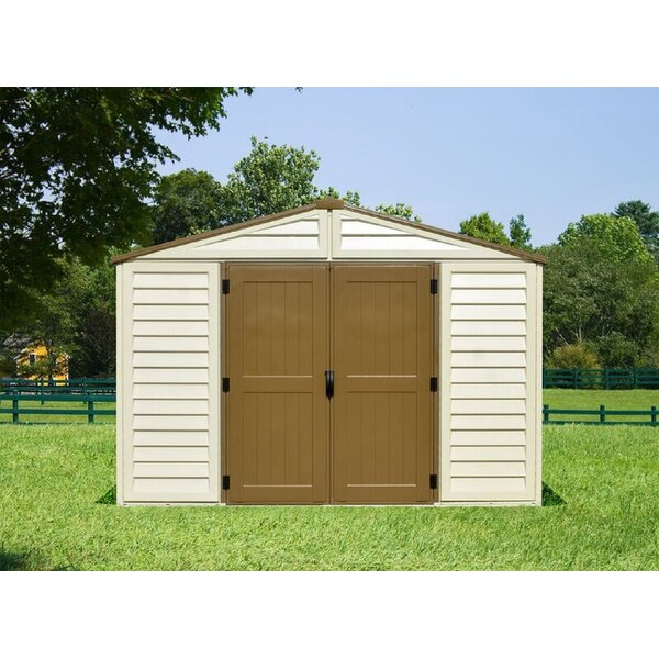 Woodbridge Plus 10.5 ft. W x 13 ft. D Plastic Storage Shed by Duramax Building Products