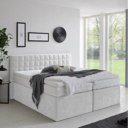 Boxspringbett Rico | Schlafzimmer > Betten > Boxspringbetten | Weiß | Stoff - Holzwerkstoff | Metro Lane