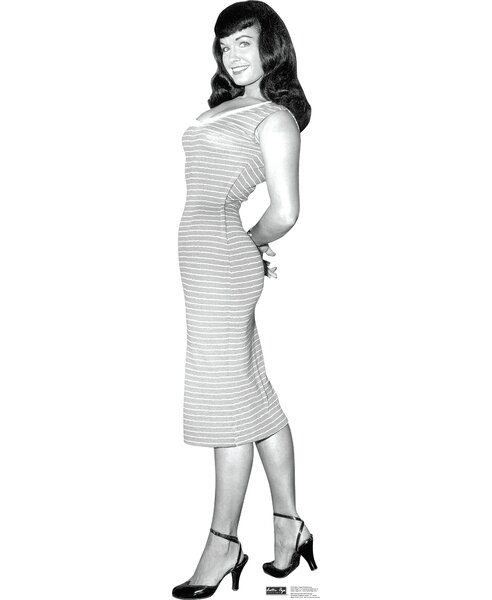 Bettie Page - Striped Dress Cardboard Standup by Advanced Graphics