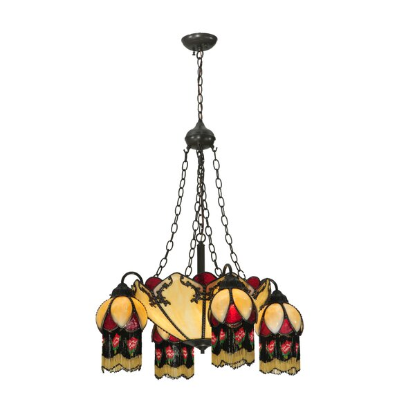 Isabella 8-Light Shaded Chandelier by Meyda Tiffany