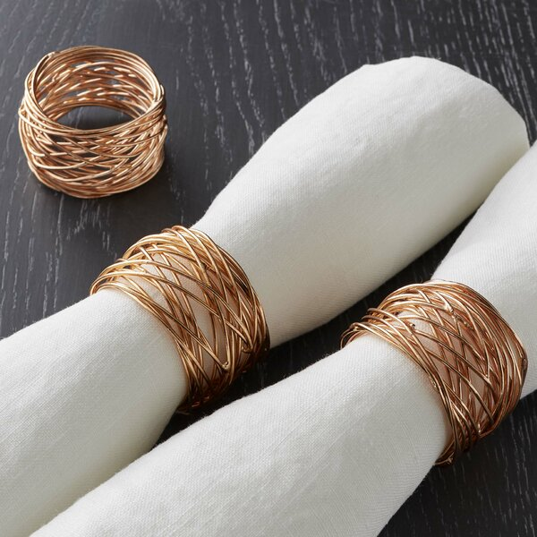 Round Wire Napkin Rings (Set of 4) by Langley Street