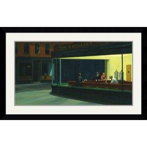 'Nighthawks, 1942' by Edward Hopper Framed Painting Print by Amanti Art