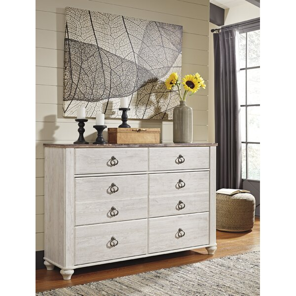 Theus 54 Inch W 6 Drawer Double Dresser By Charlton Home by Charlton Home No Copoun
