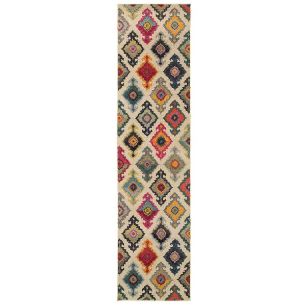 Terrell Tribal Ivory/Multi Area Rug by Bungalow Rose