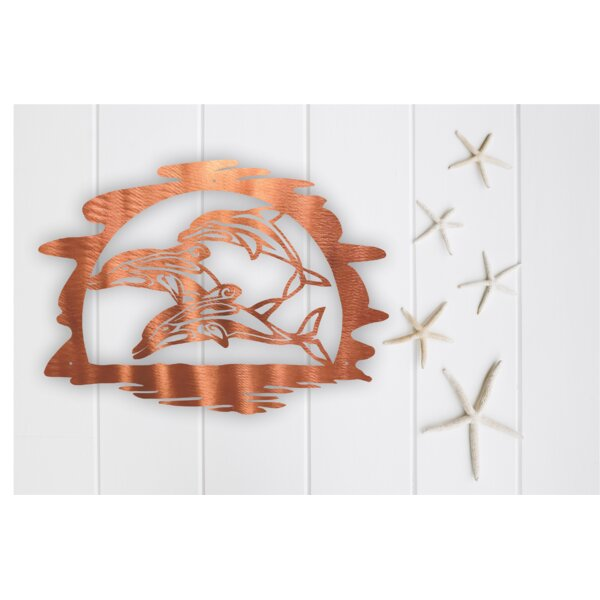 Dolphins Steel Wall Decor by Highland Dunes