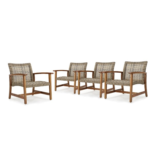 Teresa Mid Century Patio Chair (Set of 4) by Mistana