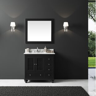 Affordable Larry 35 Single Bathroom Vanity Set with Mirror By Darby Home Co