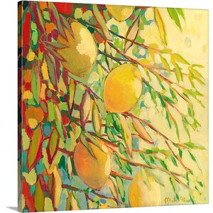 'Four Lemons' by Jennifer Lommers Painting Print on Canvas by Canvas On Demand