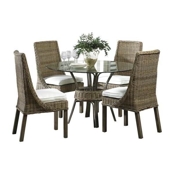 Exuma 5 Piece Dining Set by Panama Jack Sunroom Panama Jack Sunroom