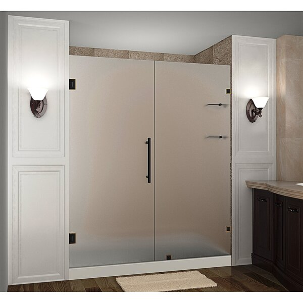 Nautis GS 69 x 72 Hinged Completely Frameless Shower Door with Shelves by Aston