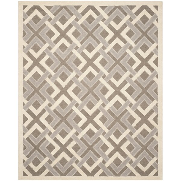 Lattice Hand-Tufted Taupe/Ivory Area Rug by Martha Stewart Rugs