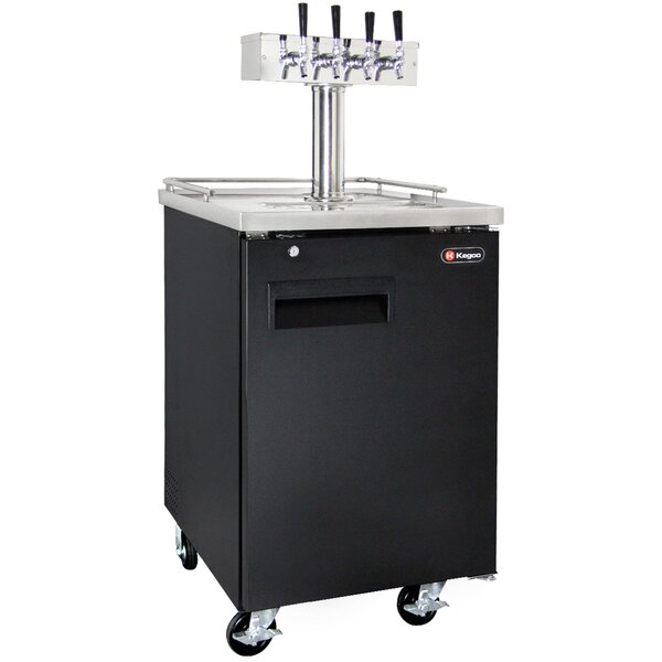 Four Tap Commercial Grade Kegerator by Kegco