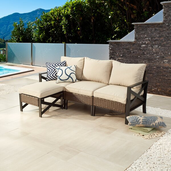 Ajete Patio Sectional with Cushions