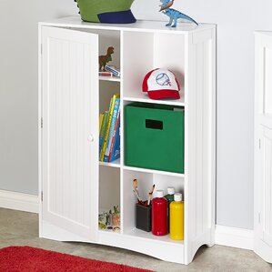 Single Door 3 Cubby Toy Organizer