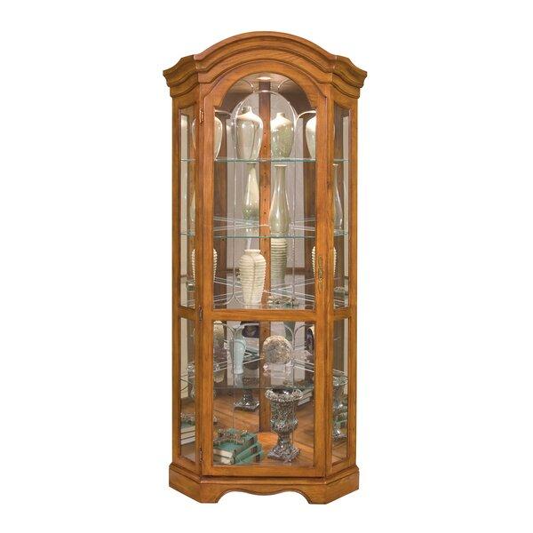 Shonnard Lighted Corner Curio Cabinet by Charlton Home Charlton Home