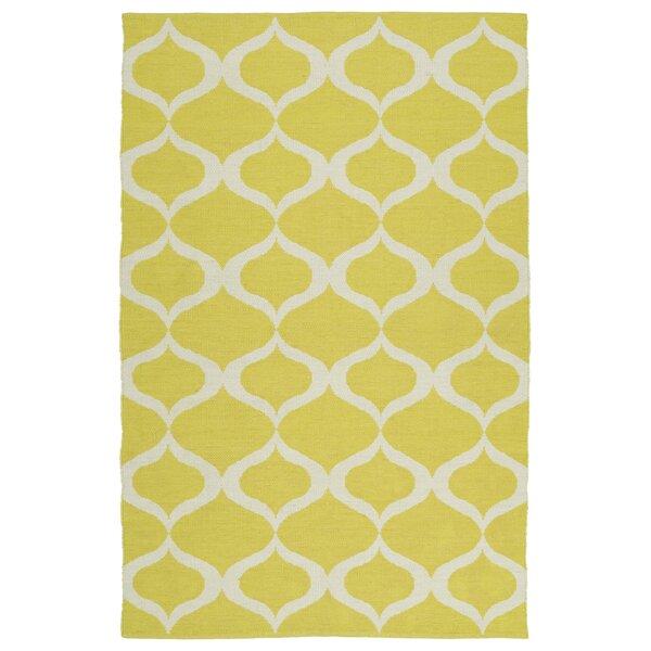 Dominic Yellow/Cream Indoor/Outdoor Area Rug by Ebern Designs