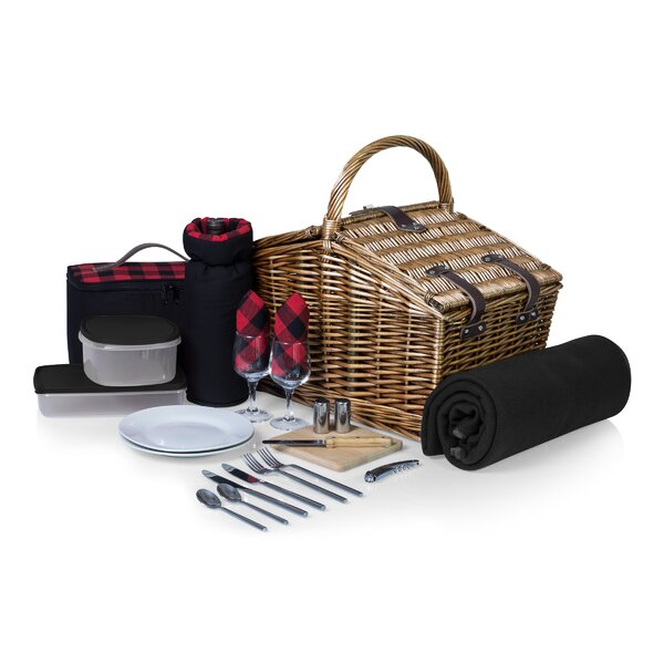 Somerset Picnic Basket by Highland Dunes
