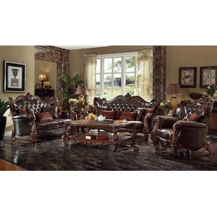 3 Piece Faux Leather Living Room Set by A&J Homes Studio