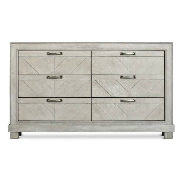 Vachel 6 Drawer Double Dresser by Gracie Oaks