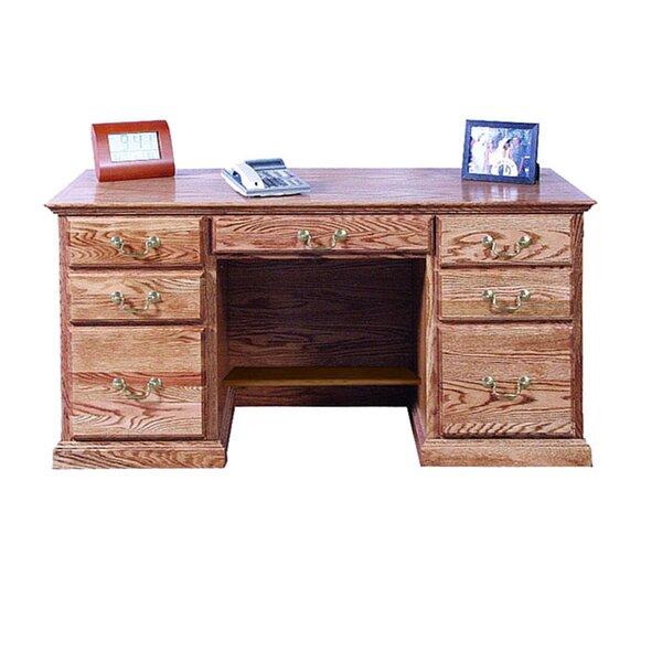 Kitchen Double Pedestal Executive Desk by Loon Peak