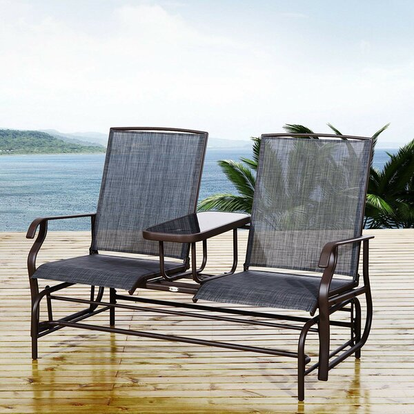 Quitman Patio Double Glider Chair by Fleur De Lis Living