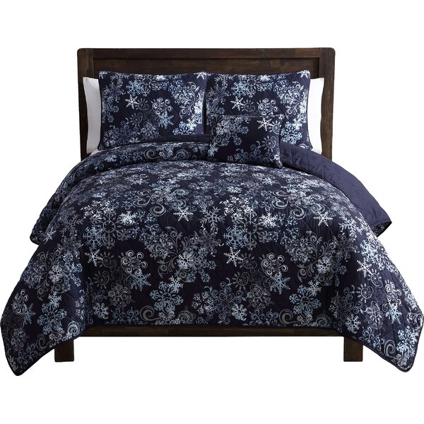 Scroll Snowflake Quilt Set by The Holiday Aisle