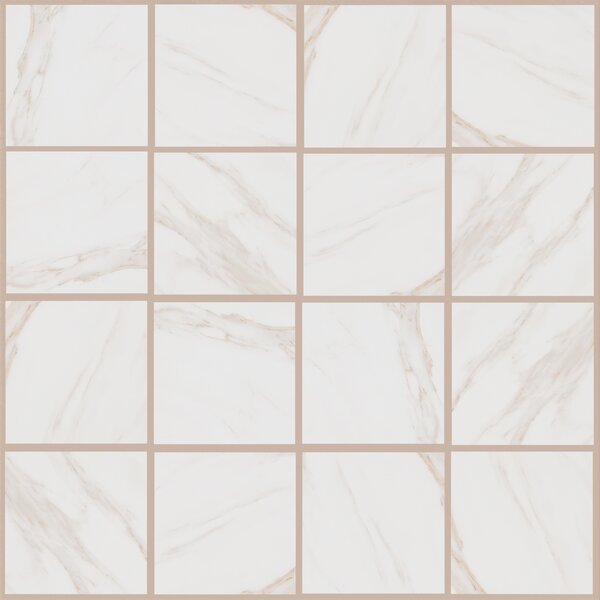 Bradwell 12 x 12 Porcelain Field Tile in Bianco Cararra by Mohawk Flooring